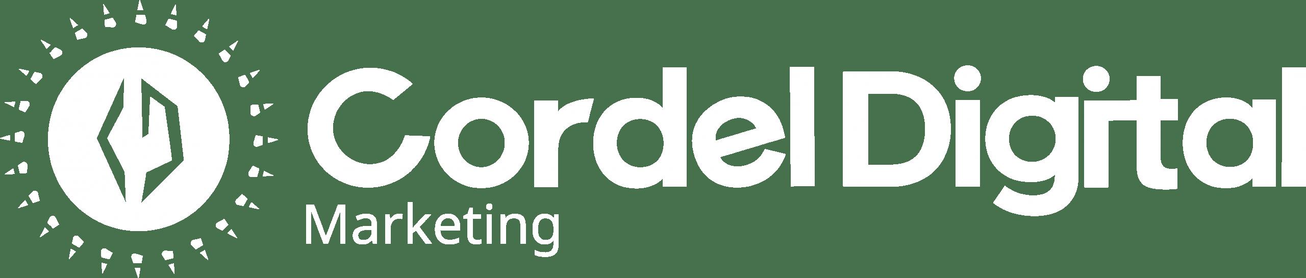 Logo Cordel Digital Horizontal Branca